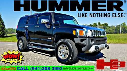 2008 HUMMER H3 SUV Luxury 4X4 BLACK LEATHER for sale in tampa bay, FL