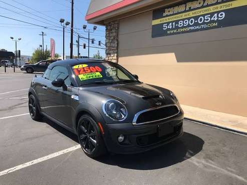 2013 MINI COOPER COUPE S 6 SPEED TURBO. 70K - cars & trucks - by... for sale in Medford, OR