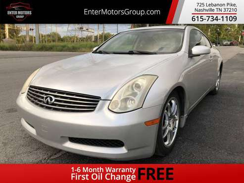 2006 *INFINITI* *G35 Coupe* *2dr Coupe Automatic* Di for sale in Nashville, TN