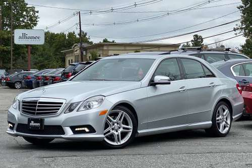 Silver 2011 Mercedes-Benz E350 Sport 4MATIC - AMG, nav, we finance for sale in Middleton, MA