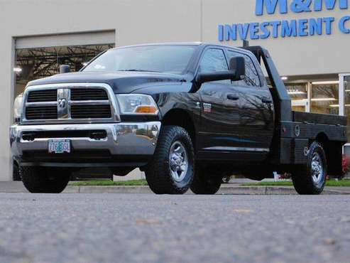 2012 Ram 3500 Crew Cab 4X4 6.7L Cummins Diesel / FLAT BED /CLEAN 4x4... for sale in Portland, OR