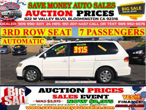 2003 HONDA ODYSSEY>3RD ROW SEAT>6CYLDS>CALL 24HR for sale in BLOOMINGTON, CA