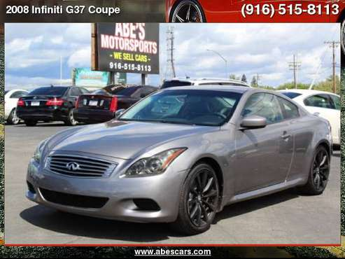 2008 Infiniti G37 Coupe Journey for sale in Sacramento , CA