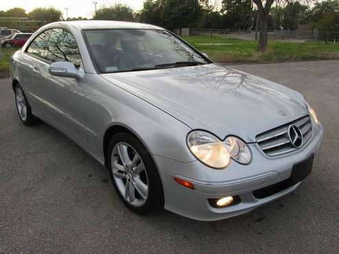 2006 MERCEDES BENZ CLK-350 COUPE SILVER ~~~ VERY CLEAN ~~~ for sale in Richmond, TX