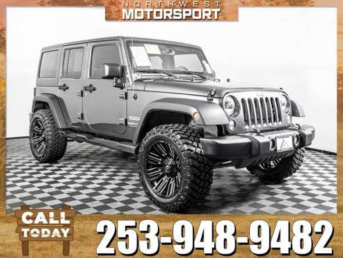 Lifted 2018 *Jeep Wrangler* Unlimited Sport 4x4 for sale in PUYALLUP, WA