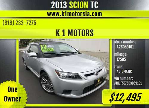 2013 SCION / TC / 1 Owner / 17k Mileage / Automatic / Must See / Silve for sale in Los Angeles, CA