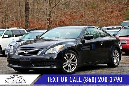 2008 Infiniti G37 Coupe 2dr Journey - CARFAX ADVANTAGE DEALERSHIP! for sale in Mansfield Center, CT