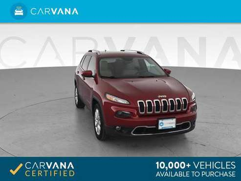 2016 Jeep Cherokee Limited Sport Utility 4D suv MAROON - FINANCE for sale in Round Rock, TX