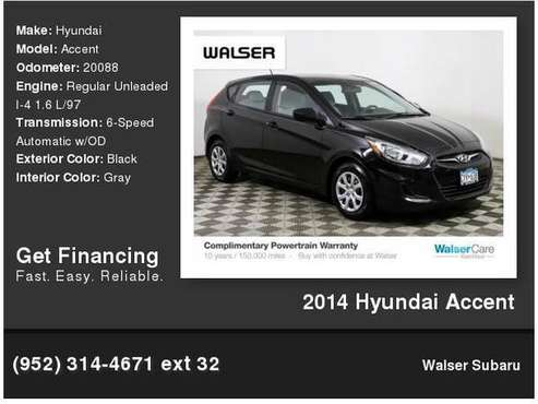 2014 Hyundai Accent for sale in Burnsville, MN