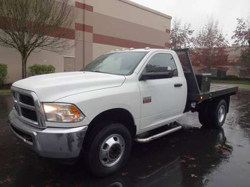 2012 Ram 3500 4WD Manual Cummins 9ft FlatBed W/Goose Neck - cars &... for sale in Auburn, WA