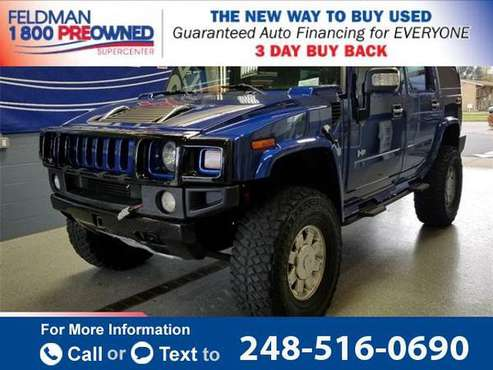 2006 *Hummer* *H2* Luxury suv Pacific Blue for sale in Waterford Township, MI