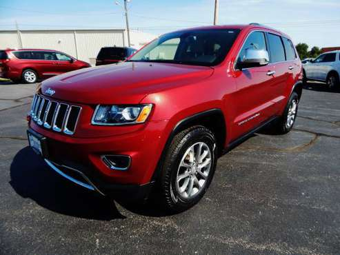 2014 JEEP GRAND CHEROKEE LIMITED 4X4 3.6L AUTO LEATHER HEAT NAV CAMERA for sale in Carthage, OK