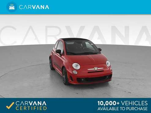 2015 FIAT 500 Abarth Cabrio Cabriolet 2D Convertible Red - FINANCE for sale in Broken Arrow, OK