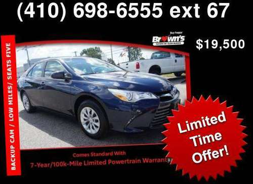 2017 Toyota Camry LE for sale in Glen Burnie, MD