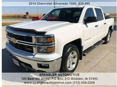 2014 CHEVY SILVERADO LT*39K MILES*HEATED SEATS*REMOTE START*MUST SEE!! for sale in Glidden, IA