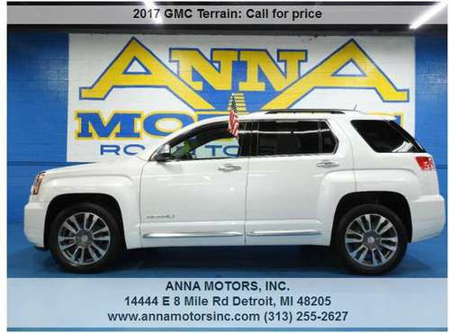 2017 GMC TERRAIN DENALI AWD,PAYMENT STARTING@$299*PER MONTH- STOP BY for sale in Detroit, MI
