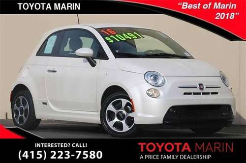 2016 FIAT 500e Coupe 500 Battery Electric FIAT 500-e 500 e for sale in San Rafael, CA
