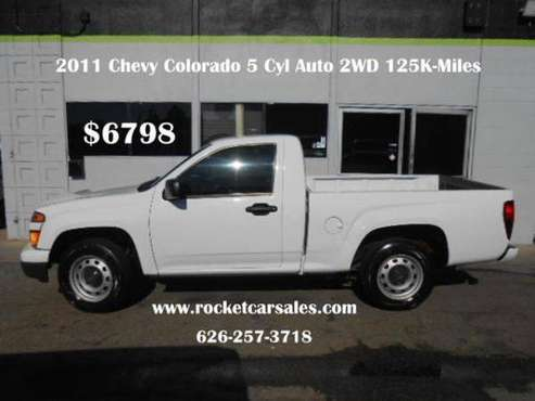 2011 Chevrolet Chevy Colorado Work Truck 4x2 2dr Regular Cab TAX... for sale in Covina, CA