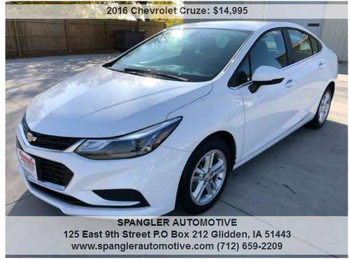 2016 CHEVY CRUZE LT*42K*BACKUP CAM*REMOTE START*HEATED SEATS*CLEAN!! for sale in Glidden, IA