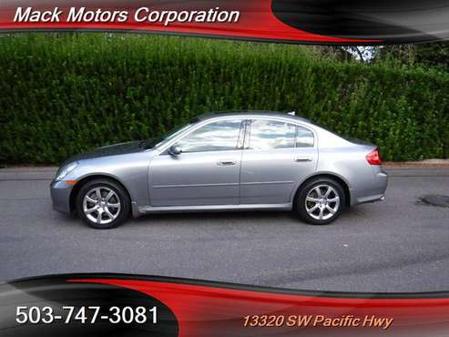 2006 Infiniti G35x 76K Low Miles Heated Leather Seated Moon Roof AWD for sale in Tigard, OR