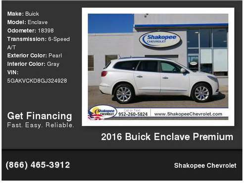 2016 Buick Enclave Premium for sale in Shakopee, MN