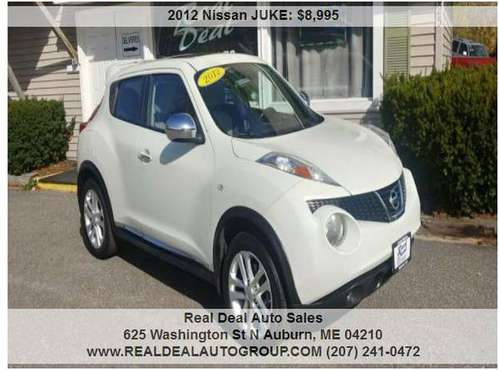 2012 NISSAN JUKE SV! AWD! MOONROOF, NAV! SUPER CUTE AND SPORTY! for sale in Auburn, ME