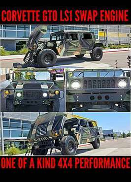 95 HUMMER H1 HUMVEE 4X4! LS1 CORVETTE ENGINE! 37K MI! MUST SEE! RARE! for sale in Meridian, ID