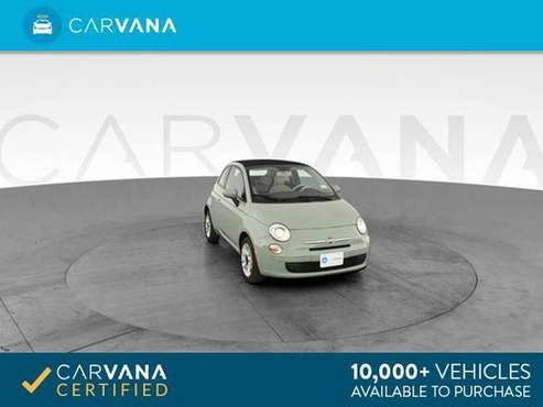 2013 FIAT 500 500c Pop Cabrio Convertible 2D Convertible Green - for sale in Sacramento , CA