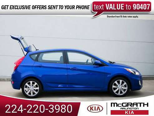 2012 Hyundai Accent GS hatchback Ultra Black for sale in Palatine, IL