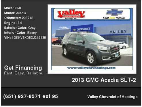 2013 GMC Acadia SLT-2 for sale in Hastings, MN