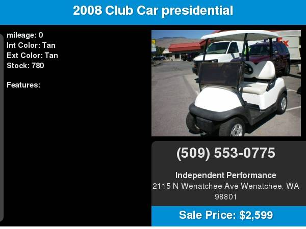 2002 Club Car presidential 48 volt with for sale in Wenatchee, WA – photo 8