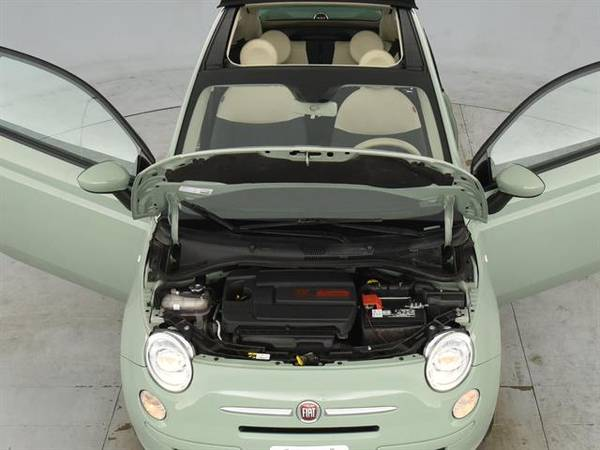 2013 FIAT 500 500c Pop Cabrio Convertible 2D Convertible Green - for sale in Sacramento , CA – photo 4
