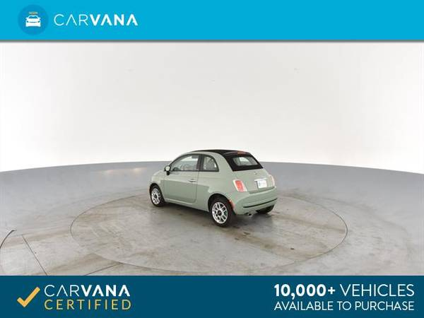 2013 FIAT 500 500c Pop Cabrio Convertible 2D Convertible Green - for sale in Sacramento , CA – photo 8