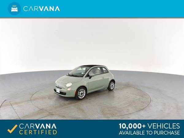 2013 FIAT 500 500c Pop Cabrio Convertible 2D Convertible Green - for sale in Sacramento , CA – photo 6