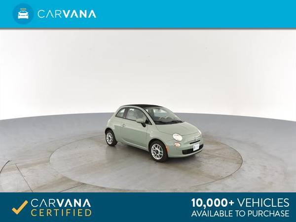 2013 FIAT 500 500c Pop Cabrio Convertible 2D Convertible Green - for sale in Sacramento , CA – photo 9