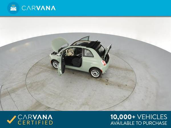 2013 FIAT 500 500c Pop Cabrio Convertible 2D Convertible Green - for sale in Sacramento , CA – photo 13