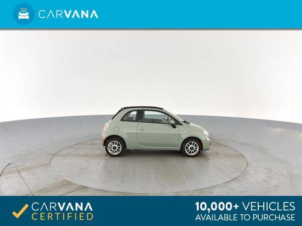 2013 FIAT 500 500c Pop Cabrio Convertible 2D Convertible Green - for sale in Sacramento , CA – photo 10