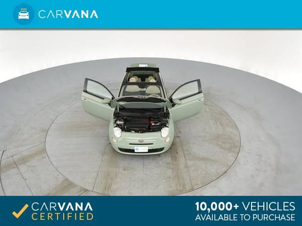 2013 FIAT 500 500c Pop Cabrio Convertible 2D Convertible Green - for sale in Sacramento , CA – photo 12
