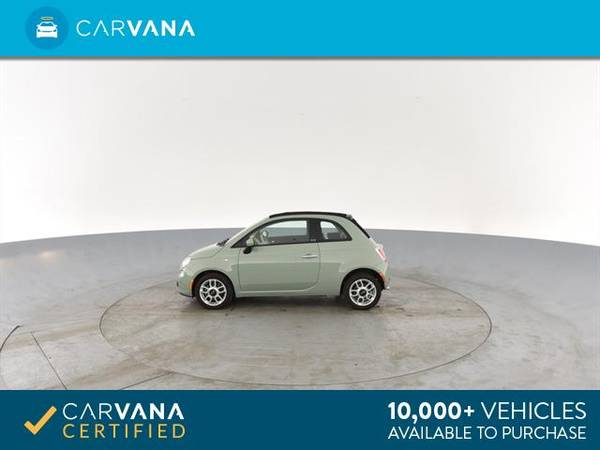 2013 FIAT 500 500c Pop Cabrio Convertible 2D Convertible Green - for sale in Sacramento , CA – photo 7