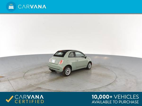 2013 FIAT 500 500c Pop Cabrio Convertible 2D Convertible Green - for sale in Sacramento , CA – photo 11