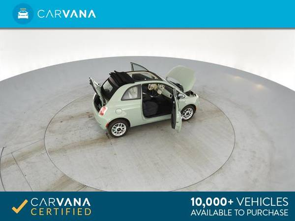 2013 FIAT 500 500c Pop Cabrio Convertible 2D Convertible Green - for sale in Sacramento , CA – photo 14