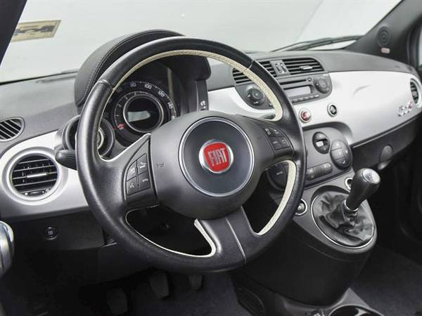 2014 FIAT 500c GQ Edition Cabriolet 2D Convertible Silver - FINANCE for sale in Atlanta, CA – photo 2